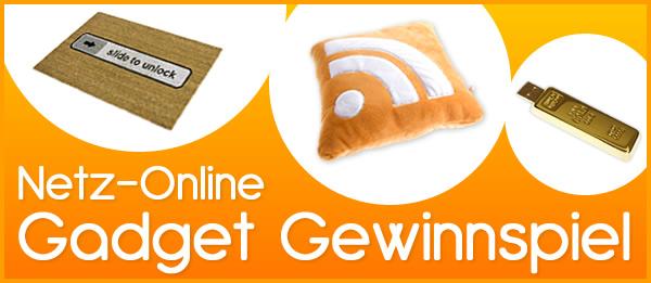 Gewinne ein Gadget bei netz-online.com
